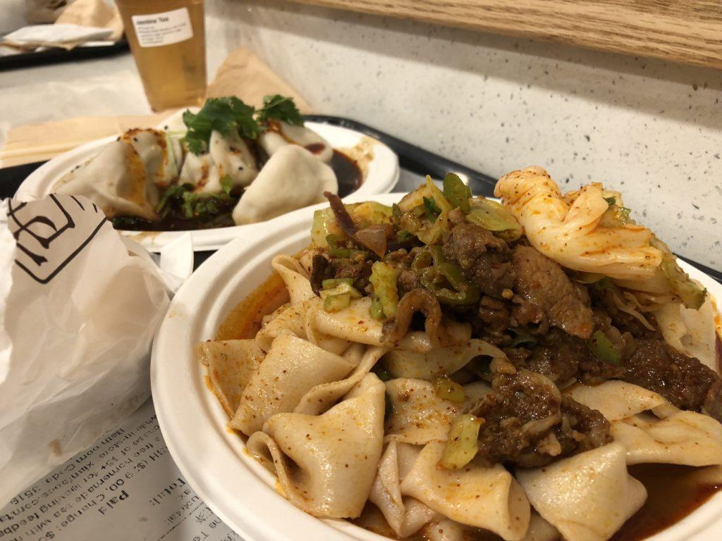 noedels en dumplings bij xi'an famous foods
